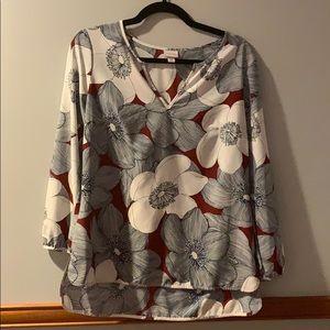 Merona floral blouse